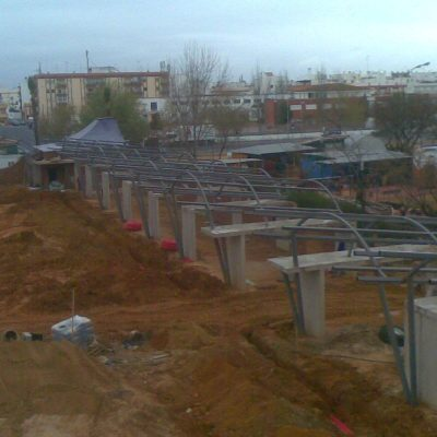 Estructura recinto ferial de Isla Cristina