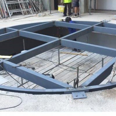 Estructura suelo vidrio