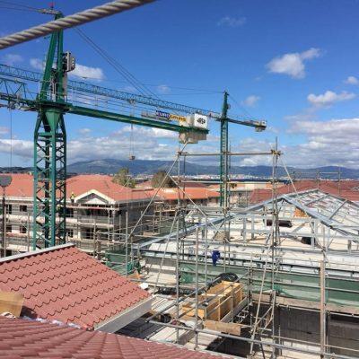 Panel tipo teja cubierta edificios